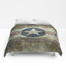 USAF vintage retro style roundel Comforters