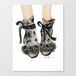 Designer Bridal Shoes Canvas Print