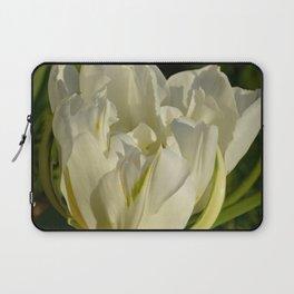 Double White Tulip by Teresa Thompson Laptop Sleeve