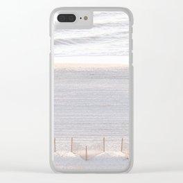 Early Morning #wallart #beach #sand #sunrise Clear iPhone Case