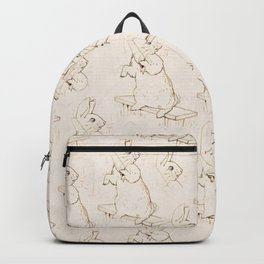 Cute Bunny with a carrot Beatrix Potter pattern design Backpack
