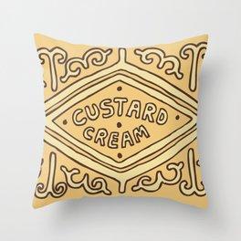 Custard Cream Biscuit Throw Pillow