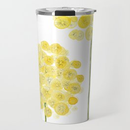 two abstract dandelions watercolor Travel Mug