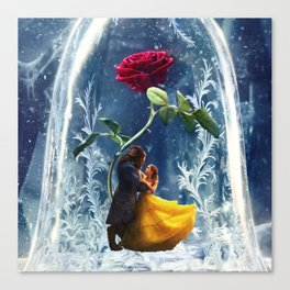 Beauty and the Beast-Rose Canvas Print