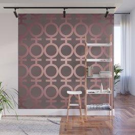 Feminist As Fuck Pink Gradient Vector Pattern Wall Mural