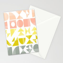 Organic Abstract Shapes in Soft Pastel Colors Stationery Cards