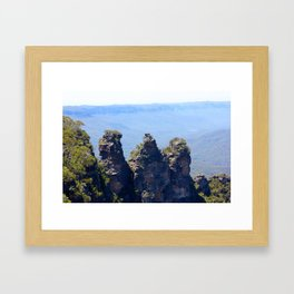 The Three Sisters, Blue Mountains, NSW AUSTRALIA Framed Art Print
