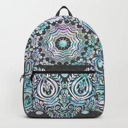 Mermaid Mandala on Deep Gray Backpack
