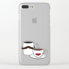 The Caffeinated Couple Clear iPhone Case
