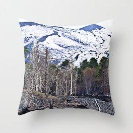 Vulcano Etna on the Isle of Sicily Throw Pillow