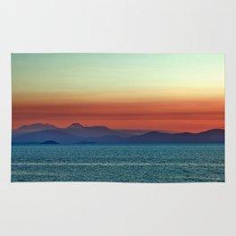 Sunset on Lake Taupo Rug