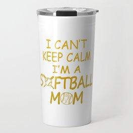 I'M A SOFTBALL MOM Travel Mug