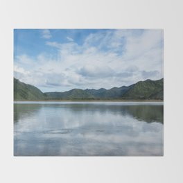 Cloud Reflections Photography Print Throw Blanket