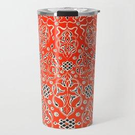 Vintage Red Turkish Pattern Travel Mug