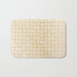 Basketweave Bath Mat