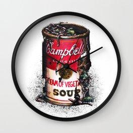 Cream of Vegetable Wall Clock