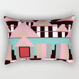Postmodern City Skyline Rectangular Pillow