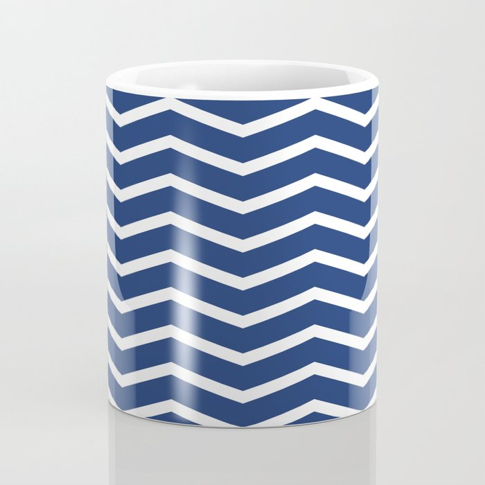 Navy Chevron Pattern 3 Coffee Mug