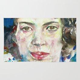 EMILY DICKINSON - watercolor portrait.3 Rug