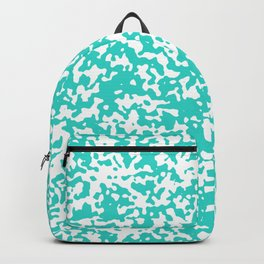 Small Spots - White and Turquoise Backpack
