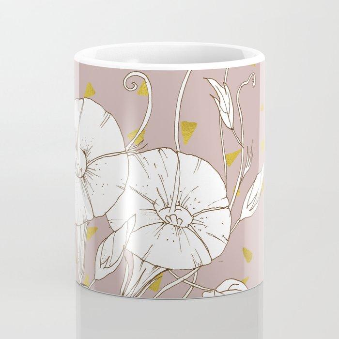 Morning Glory in Gold Coffee Mug