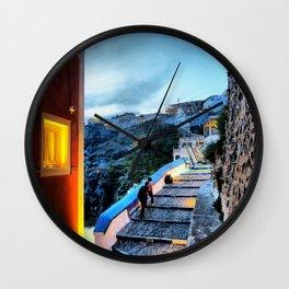 Santorini 29 Wall Clock