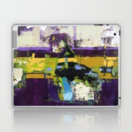 Controversy Prince Deep Purple Abstract Painting Modern Art Laptop & iPad Skin