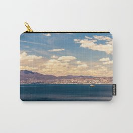 Sunny day view from Krk island to the gulf of Rijeka Carry-All Pouch