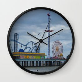 Pleasure Pier - Galveston Texas Wall Clock