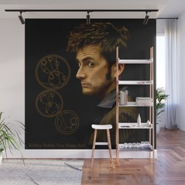 The Tenth Doctor with Gallifreyan Wall Mural