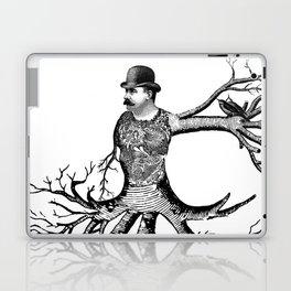 Black & White - Victorian Tatooed Tree Man Laptop & iPad Skin