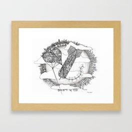 The Above Framed Art Print