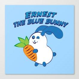 Ernest the blue bunny Canvas Print