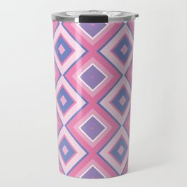 Geometry in Pink and Blue Travel Mug