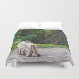 What the Cat Sees By the Hot Glass Studio Hydrangea Duvet Cover