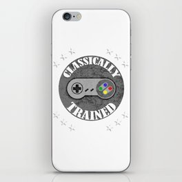 Classically Trained Retro 4 Button Video Game Shirt iPhone Skin