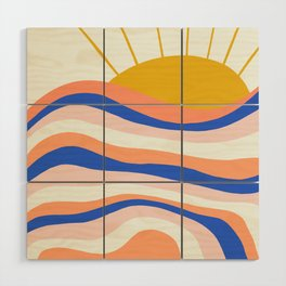 sunrise surf Wood Wall Art