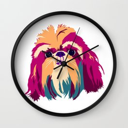 Shih Tzu Face Wall Clock