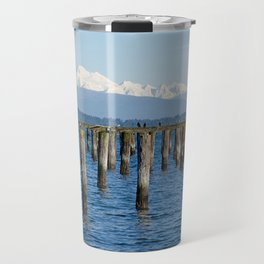 MOUNT BAKER KOMA KULSHAN AND OLD PILINGS  Travel Mug