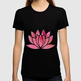 Zen Watercolor Lotus Flower Yoga Symbol T-shirt