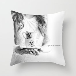 You are my cup of tea postcard Throw Pillow