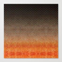 """Sabana Night Degraded Polka Dots"" Canvas Print"