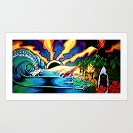 """Little Beach, Maui"" Art Print"