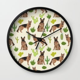 German Shepherd Cactus desert southwest dog lover gifts dog breed service dog Wall Clock