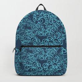 Blue Flower Doodle Backpack