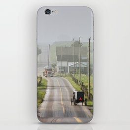 Amish Buggy confronts the Modern World iPhone Skin