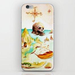 Peter Pan Map iPhone Skin