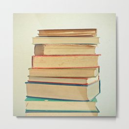 Stack of Books Metal Print