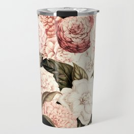 Vintage & Shabby floral camellia flowers watercolor pattern Travel Mug