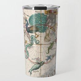Old Constellation Map Year 1693 Travel Mug